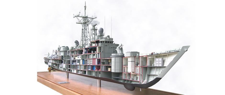 Thalas models - FFG HMS Sydney cutaway - Watercraft 'PORTER AB2000'